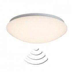 FAKIR Plafonnier LED 12W avec détecteur coloris chrome/blanc