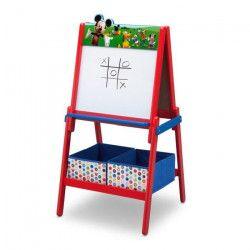 MICKEY - Tableau Enfant - Chevalet double face en bois avec rangements - Rouge