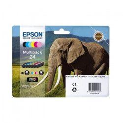 Epson Cartouche Multipack 24 `Eléphant` Claria Photo HD - Noir + 5 Couleurs