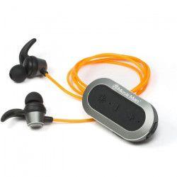 MUSICMAN BT-X32 Ecouteurs Bluetooth aimantés lumineux - Jaune
