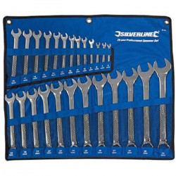 Trousse de 25 clés mixtes Haute Qualité 6 - 32 mm