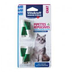 VITAKRAFT Pipettes répulsives au pyrethre - P/4 - Pour chat