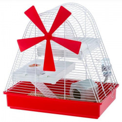 FERPLAST Cage Magic Mill 46x29,5x46,5 cm - Blanc - Pour hamster