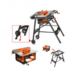 FEIDER Atelier Stationnaire FT7202F2 - 720 W - 200 mm - Orange et noir