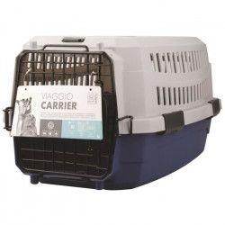 M-PETS Caisse de transport Viaggio Carrier XS - 48,3x32x25,4cm - Bleu et gris - Pour chien et chat