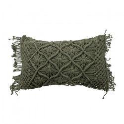Coussin Macrame - 30 x 50 cm - Vert clair