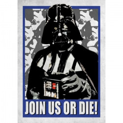 Poster métallique Star Wars Galactic Propaganda : Join Us or Die