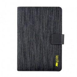 TECHAIR Coque de protection 10` - Polyester Texturé - Fermeture Aimantée - Porte Stylet Intégré - Noir et gris