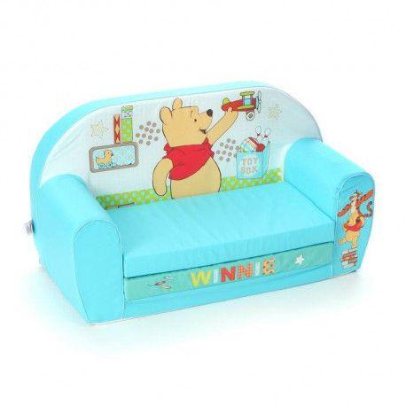 En Promo WINNIE L`Ourson Canapé Mousse Sofa Tidy Time   Disney Baby