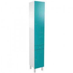 CORAIL Colonne de salle de bain L 30 cm - Bleu lagon brillant