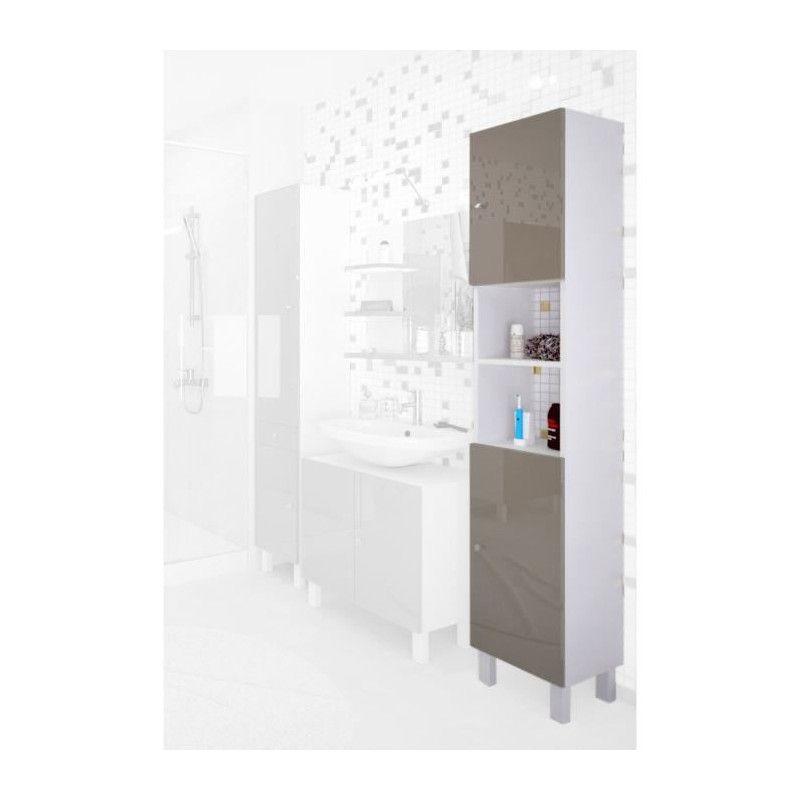 CORAIL Colonne de salle de bain L 30 cm - Taupe