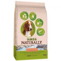 IAMS Naturally Croquettes Saumon Atlantique Nord & Riz - Toutes races - 7 kg - Pour chien adulte