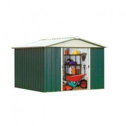 YARDMASTER Abri de jardin en métal - Surface hors tout : 9,03 m²