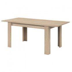 KENDRA Table a manger extensible de 6 a 8 personnes style contemporain mélaminée décor chene - L 140-190 x l 90