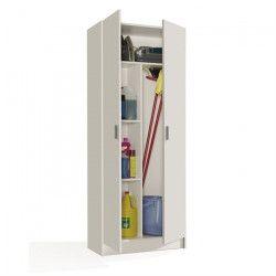 MULTIUSOS Armoire de rangement style contemporain blanc - L 73 cm