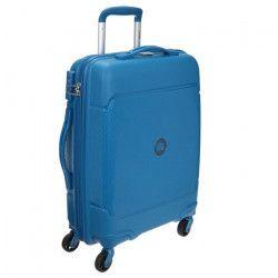 VISA DELSEY Valise Cabine Low Cost Rigide Polypropylene 4 Roues 55cm SEJOUR Bleu