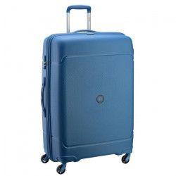 VISA DELSEY Valise Trolley Rigide Polypropylene 4 Roues 75cm SEJOUR Bleu