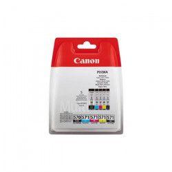 CANON Pack 5 Cartouches couleurs CLI-571 BK/C/M/Y + PGI-570 PGBK - 4 couleurs + noir pigmenté