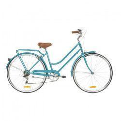 REID Vélo ville vintage classic Lite 7 vitesses - Femme - Bleu aqua - Taille LARGE