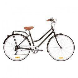 REID Vélo ville vintage classic Lite 7 vitesses - Femme - Noir - Taille LARGE