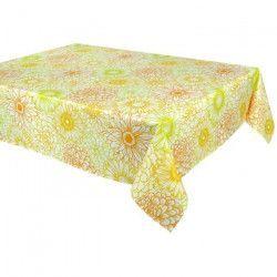 VENT DU SUD Nappe de table enduite Riviera - 160 x 250 cm - Jaune safran