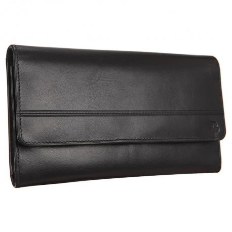 SILVERCAT Compagnon - Cuir de vachette - 19x12 cm - Noir - Femme