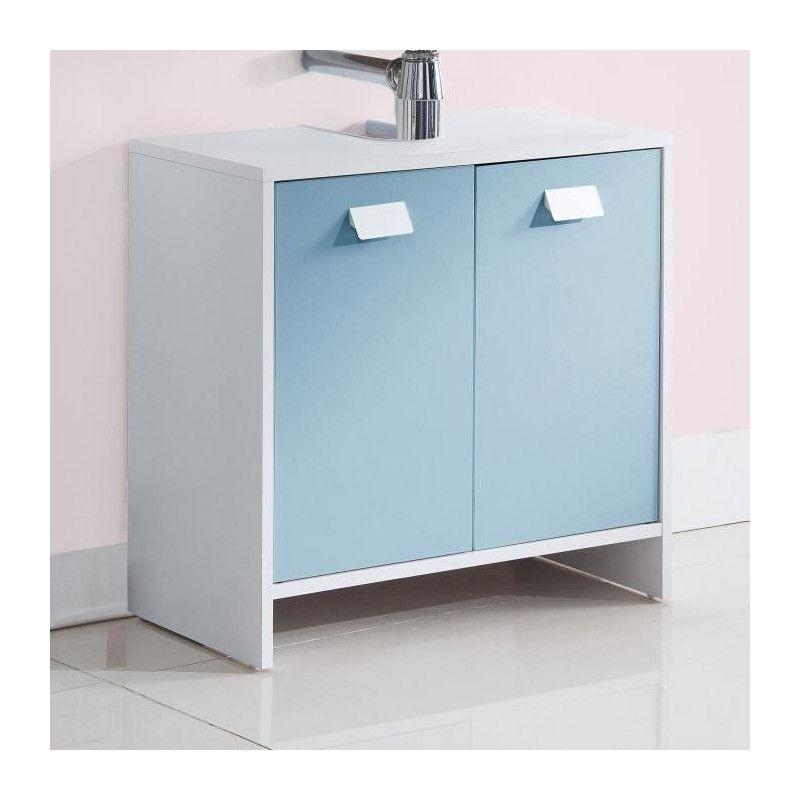 meuble sous vasque 60 cm top meuble sous vasque l 60 cm blanc et bleu mat