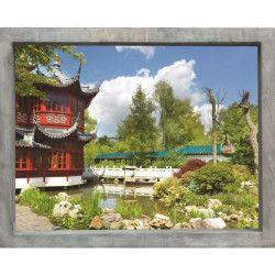 PLAGE Sticker Fenetre trompe l`oeil adhésive - Jardin d`Asie60x75 cm