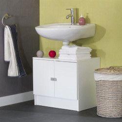 GALET Meuble sous lavabo L 60 cm - Blanc mat