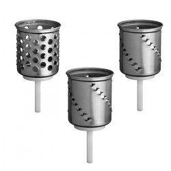 KITCHENAID Accessoires 5KSMEMVSC Set de 3 cylindres a râper pour robot pâtissier KITCHENAID