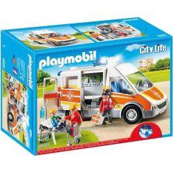 PLAYMOBIL 6685 - City Life - Ambulance avec Gyrophare et Sirene
