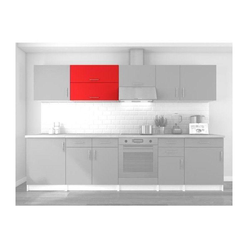 obi meuble haut de cuisine l 80 cm rouge mat. Black Bedroom Furniture Sets. Home Design Ideas