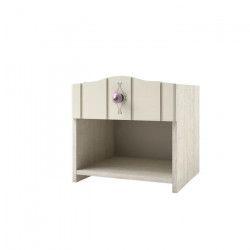 LOVELY Chevet - Classique - mélaminé décor chene ivoire mat - L 40 cm