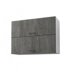 OBI Meuble haut de cuisine L 80 cm - Décor teck marine et blanc