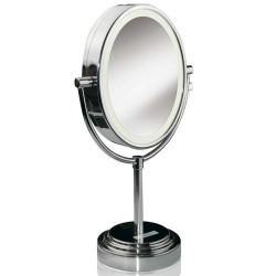 BABYLISS 8437E Miroir lumineux - 20W - Ovale - 2 Faces grossissantes