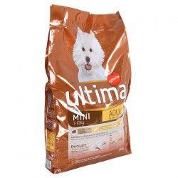 ULTIMA Croquettes Mini Adult au poulet, au riz et céréales - Petite race - Pour chien adulte 1 a 10kg - 7,5kg