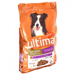 ULTIMA Croquettes au poulet, aux légumes, au pomme et au riz - 7,5kg (x1) - Pour chien senior