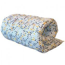 Matelas de sol Coton imprimé Mistigri 60x120 cm gris, jaune et blanc