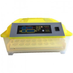 POILS & PLUMES Kit couveuse automatique 48 oeufs - 43 x 43 x 24 cm - Jaune