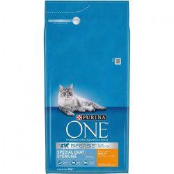 PURINA ONE Croquettes au poulet et au blé - Pour chat adulte stérilisé - 6 kg