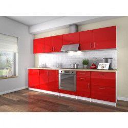 OBI Cuisine complete L 300 cm - Rouge laqué brillant
