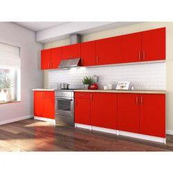 OBI Cuisine complete L 320 cm - Rouge mat