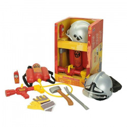 FIRE FIGHTER HENRY - Grand Set de Pompier avec casque et lance - Carnaval