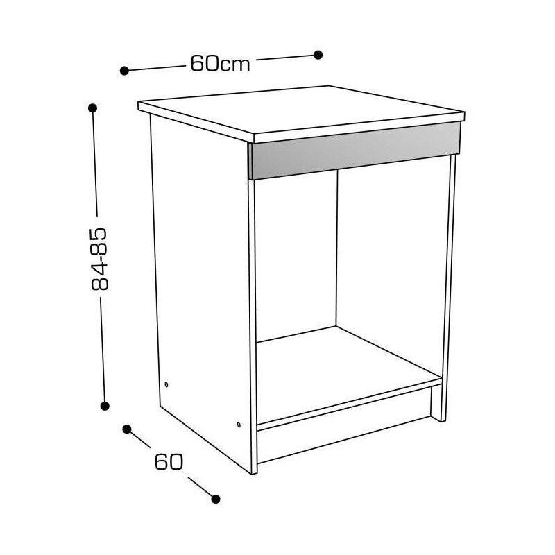 start caisson bas de cuisine pour four l 60 cm avec. Black Bedroom Furniture Sets. Home Design Ideas