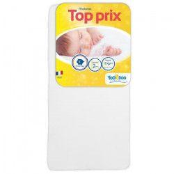 YOOPIDOO Matelas bébé Top prix - Confortable - Fabrication française - 70 x 140 x 10 cm