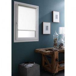 DOMDECO Store enrouleur tamisant sans perçage - Blanc - 62x170 cm