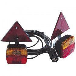 SPOTLIGHT Kit Magnétique Entre Feu + Triangles Réfléchissants - 4 m - Alim 7,5 m