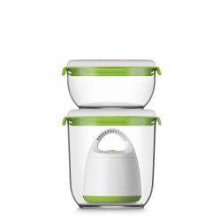 FOSA Kit de mise sous vide alimentaire en récipients 30000 - 600-1350 ml - Blanc et vert