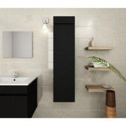 LUNA Colonne de salle de bain L 25 cm - Noir mat
