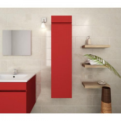 LUNA Colonne de salle de bain L 25 cm - Rouge mat